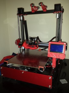 Finished printer with accessories